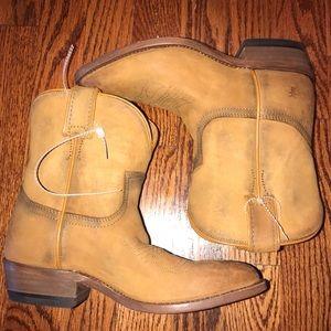 Frye Camel Snip Toe Cowboy Boots